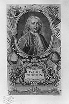 Isaac Newton (1642-1727), English physicist and astronomer. Engraving by Susana. © Albert Harlingue / Roger-Viollet