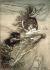 """""""L'Or du Rhin"""", opéra de Richard Wagner. Alberich et les filles du Rhin. Illustration d'Arthur Rackham (1867-1939), 1910. Collection Bruno Lussato. Paris, B.N.F. © Colette Masson/Roger-Viollet"""