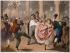 """Gustave Barry, Bettannier, Morlon d'après Linder. """"Le Pied qui remue - Au Prado de Paris"""". Lithographie. Paris, musée Carnavalet. © Musée Carnavalet/Roger-Viollet"""