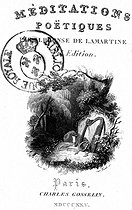 March 11, 1820: (200 years ago) Bicentenary of the publication of the Poet Meditations of Alphonse de Lamartine (1790-1869), French writer