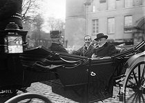 Emile Loubet (1838-1929), French statesman, hunting with King Alfonso XIII of Spain (1886-1941). Rambouillet (France), November 1913. © Maurice-Louis Branger / Roger-Viollet