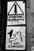 Events of May-June, 1968. Poster of the school of Fine art in Paris.  © Roger-Viollet