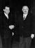 Richard Nixon, secrétaire d'Etat, devenu président des Etats-Unis. © Toscani/Alinari/Roger-Viollet