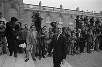 Alain Juppé (born in 1945), minister with special responsability with the minister of Finance, in charge of Budget in Jacques Chirac's government, at the Elysee Palace. Paris (VIIIth arrondissement), 1986. © Jacques Cuinières/Roger-Viollet