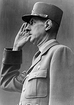 World War II. General Charles de Gaulle (1890-1970), 1944. © Neurdein/Roger-Viollet