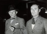 Exposition internationale de Paris. Pablo Picasso (1881-1973) et Joan Miró (1893-1983) au pavillon espagnol, 1937. Salamanque (Espagne), archives historiques nationales. © Iberfoto / Roger-Viollet
