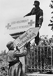 World War II. Normandy front. Installation of a sign for a German hospital. July 1944. © LAPI/Roger-Viollet