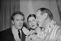Jean Cocteau, Marie Bell and Fernand Ledoux. © Roger-Viollet