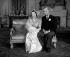 Baptême de la princesse Anne. La princesse Elisabeth d'Angleterre et son époux, le prince Philip duc d'Edimbourg. Londres (Angleterre), palais de Buckingham, 21 octobre 1950. © PA Archive / Roger-Viollet