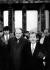 Marian Calfa (né en 1946), homme politique tchécoslovaque, et Vaclav Havel (1936-2011), écrivain et homme d'Etat tchécoslovaque, lors d'une visite en Allemagne de l'Ouest. Berlin (Allemagne), 2 janvier 1990. © Ullstein Bild/Roger-Viollet