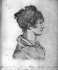 Louis Léopold Boilly (1761-1845). Joséphine de Beauharnais (1763-1814), future impératrice des Français. Crayon, 1793. Portrait donné par Marie-Amélie à la reine Hortense de Hollande en 1834. © Roger-Viollet