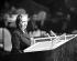 Golda Meir (1898-1978), premier ministre israélien, à l'Assemblée générale des Nations Unies. New York, 23 septembre 1960.  © TopFoto / Roger-Viollet