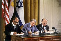 September 17, 1978 (40 years ago) : The Camp David agreements signed as a peace process between Israel and Egypt
