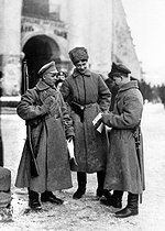 Russian Revolution in 1917. Beginning of the Red Army. © Roger-Viollet