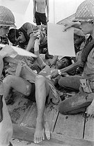 Cambodian War. Soldier having an operation to remove a bullet shot by the Khmer Rouge army. Cambodia, 1974. © Françoise Demulder / Roger-Viollet