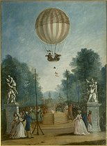Anonymous. The ascent of Charles and Robert at the Tuileries, on December 1st, 1783. Paris, musée Carnavalet. © Musée Carnavalet/Roger-Viollet