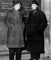Jean Giraudoux (1882-1944), French writer, with Louis Jouvet (1887-1951), French actor, director and theatre manager. © Roger-Viollet