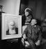 Portrait de Tristan Bernard (1866-1947), écrivain français. Peinture de Lucien Rosenberg. 1933. © Boris Lipnitzki/Roger-Viollet