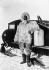 Alfred Wegner (1880-1930), géophysicien et météorologue allemand, pendant une expédition au Groenland. 1930. © Ullstein Bild/Roger-Viollet