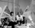 """Sacha Show"" television program. Sacha Distel (1933-2004) and Claude François (1939-1978), French singers. Paris, 1970. © Patrick Ullmann / Roger-Viollet"