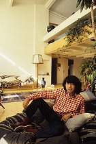 Kenzo Takada (born in 1939), Japanese fashion designer, at his place, 1978. © Jean-Régis Roustan/Roger-Viollet