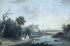 """Louis Gabriel Moreau (1740-1806). """"La rivière"""". Gouache sur papier, vers 1780. Paris, musée Cognacq-Jay.  © Musée Cognacq-Jay/Roger-Viollet"""