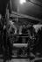 """Reportage sur les Folies Bergère. Machinistes lors de la représentation de """"Une vraie folie"""". Photographie de Jacques Rouchon (1924-1981). Paris, 1952. © Jacques Rouchon / Roger-Viollet"""