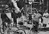 Traffic in Paris. The new roadsign for bikes. 1935-1938. © Albert Harlingue/Roger-Viollet