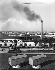 Usines Renault de Boulogne-Billancourt (Hauts-de-Seine), vers 1946-1948.  © Pierre Jahan/Roger-Viollet