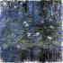 """Claude Monet (1840-1926). """"Nymphéas bleus"""". Huile sur toile, 1916-1919. Paris, musée de l'Orangerie.  © Iberfoto / Roger-Viollet"""