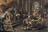 """Andrés Crua (XVIIIème-XIXème siècles). """"Christophe Colomb devant les monarques catholiques"""". Huile sur toile, 1804. Valence (Espagne), musée des Beaux Arts. © Iberfoto / Roger-Viollet"""