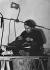 Guerre 1939-1945. Tailleur sur la ligne Maginot. Mars 1940. © Roger-Viollet
