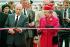 François Mitterrand (1916-1996), président de la République française et la reine Elisabeth II (née en 1926), lors de l'inaugration du Tunnel sous la Manche. Coquelles (Pas-de-Calais), 6 mai 1994. © PA Archive / Roger-Viollet