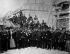 French Commune. National guards at the Vendome column. Paris (Ist arrondissement), 1871. © Roger-Viollet