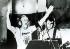 """Ronald Arthur Biggs (Ronnie, 1929-2013), voleur britannique et """"cerveau"""" de l'attaque du train postal Glasgow-Londres en 1963, participant à l'enregistrement de la bande sonore du film """"The Great Rock 'n' Roll Swindle"""", 1978-1979. © TopFoto / Roger-Viollet"""