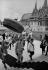 Le roi Norodom Sihanouk accompagnant le général De Gaulle en visite officielle au Cambodge. Phnom Penh, palais royal, août 1966. © Roger-Viollet