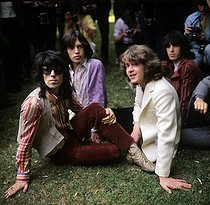 Les Rolling Stone : Mick Taylor, Keith Richards, Mick Jagger et Bill Wyman. Londres (Angleterre), Hyde Park., 13 juin 1969. © PA Archive / Roger-Viollet