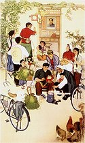 Chinese farmer painting. Years 1960-70. © Roger-Viollet