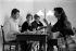 Bernard Franck, Françoise Sagan, Michel Magne and Madeleine Chapsal. Saint-Tropez (Var, France), in 1956.      © Bernard Lipnitzki / Roger-Viollet