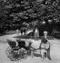 Goat-drawn carriage in a park. Paris, circa 1900. Detail from a sterescopic view. © Léon et Lévy/Roger-Viollet