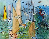 """Raoul Dufy (1877-1953). """"Régates aux mouettes"""". Huile sur toile, vers 1930. Paris, musée d'Art moderne. © Musée d'Art Moderne/Roger-Viollet"""
