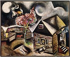 Marc Chagall (1887-1985). Rain, 1911. Venice (Italy), Peggy Guggenheim foundation. © Roger-Viollet