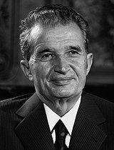 Nicolae Ceausescu (1918-1989), homme politique roumain. 1984. © Ullstein Bild/Roger-Viollet