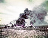 Guerre 1939-1945. Opération Overlord. Restes d'un avion allié en feu. Normandie, France, juin 1944. © Bilderwelt / Roger-Viollet