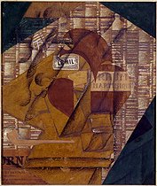 Juan Gris (1887-1927). The bottle of rum from the Martinique, 1914. Venice (Italy), Peggy-Guggenheim foundation. © Roger-Viollet
