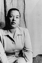 Billie Holiday (1915-1959), chanteuse de jazz américaine. 23 mars 1949. © Ullstein Bild / Roger-Viollet