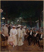 Jean Béraud (1849-1936). Gardens of Paris, or The Beauties of the Night. Oil on canvas, 1905. Paris, musée Carnavalet.  © Musée Carnavalet/Roger-Viollet