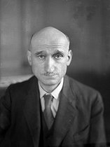 Robert Schuman (1886-1963), French politician. Paris, 1947. © Henri Martinie / Roger-Viollet