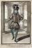 """Henri Bonnart (1642-1711). """"Monsieur Ballon, danseur de l'Opéra"""". Eau-forte coloriée. Paris, musée Carnavalet.  © Musée Carnavalet/Roger-Viollet"""