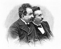 The Lumière brothers, Auguste (1862-1954) and Louis (1864-1948), inventors of the cinematograph.  © Roger-Viollet